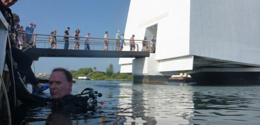 Pete Kelsey, Autodesk's strategic projects executive, did some of the hands-on measurement himself on a survey with the Park Service to evaluate the conditions of the USS Arizona Memorial at Pearl Harbor.