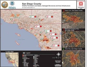 Wildfire Damage Maps. Credit: U.S. Army Corps of Engineers.
