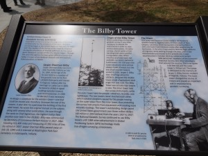 The Bilby Tower PLaque was donated to the town of Osgood by the Osgood historical museum.