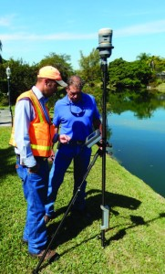 Lucas Young and Rick Barnes review an image captured by the Trimble V10. The system provided significant reduction in field time.