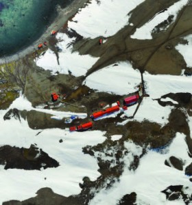 This orthomosaic of Ecuador's Antarctic research base was developed using UAS images and software.