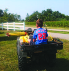 It might not be the Batmobile, but Dad's field buggy is fun.