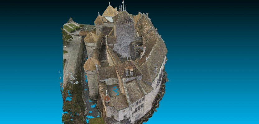 chillon castle  a pix4d sample project