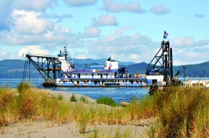 The dredge Oregon operates around the clock, six days a week, typically from June through January.