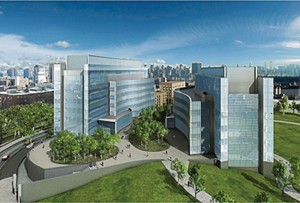 A completed 3D image of the CUNY Applied Science Research Campus, scanned, measured, and rendered 3D in AutoCAD.