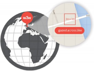 What3words assigns a unique combination of three words to each 3m by 3m square on Earth's surface.