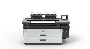 HP's Large- format PageWide technology features a wide bank of connected print heads to enable single-pass printing.