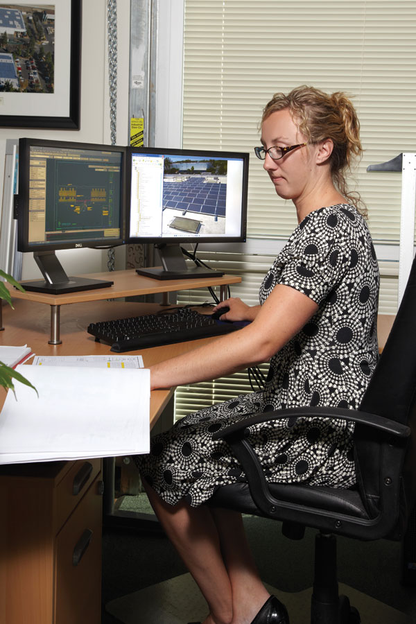 The company engineers  the systems and creates the  construction documents.  Credit: Blue Oak Energy, Inc.