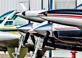Valley Air Photo's full aircraft lineup includes the Beechcraft V35 Bonanza and the Cessna 320s.
