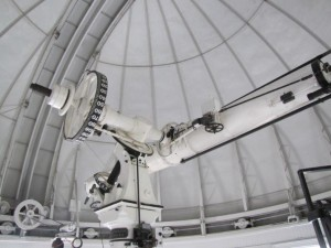 The historical 26 inch telescope was used for finding the moons of Mars and is still used today for identifying double stars.  It is the oldest piece of operational gear in the US Navy.