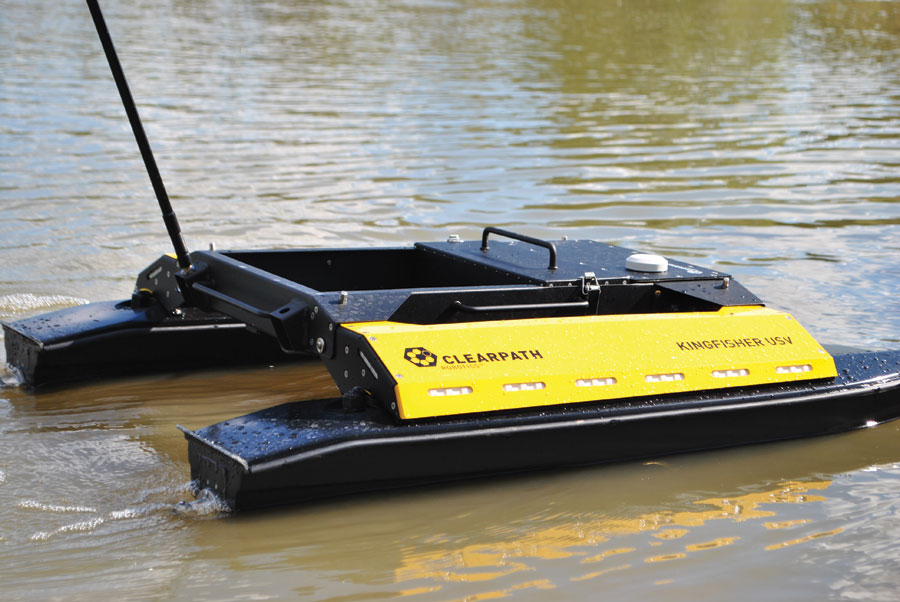 Users can think beyond conventional bathymetry practices using unmanned surface vessels such as this Kingfisher.