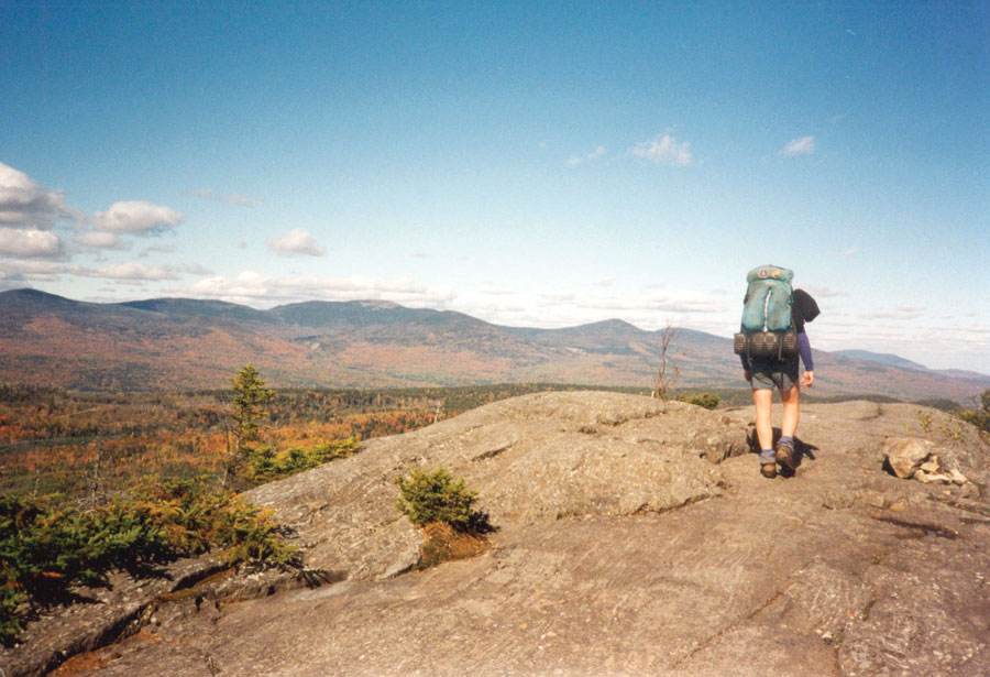 An experienced thru-hiker on Chairback Mountain in Maine; he has hiked the trail at least four times.  Photos courtesy of ATC.