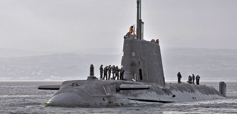 The Royal Navy submarine HMS Astute. Credit: LA(Phot) Paul Halliwell/MOD.