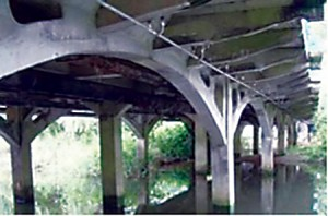Tuckton Bridge, a subject structure in the benchmarking trial, is one of the UK's oldest reinforced concrete bridges.