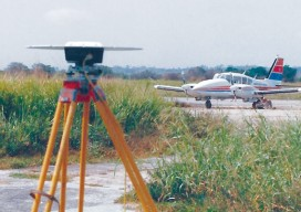 In the early 1990s our attempts to eliminate ground control were by establishing a fixed base at the airport and a rover on the plane. Using post-processing software, we were able to add precise coordinates to each photograph.