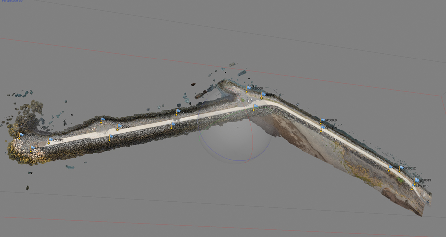 The point cloud can be used by multiple software packages and can be combined with terrestrial and mobile scanning.