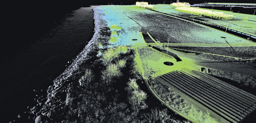 This combined lidar data set of the southern island includes sidescan sonar, shoreline lidar, and terrestrial static lidar.