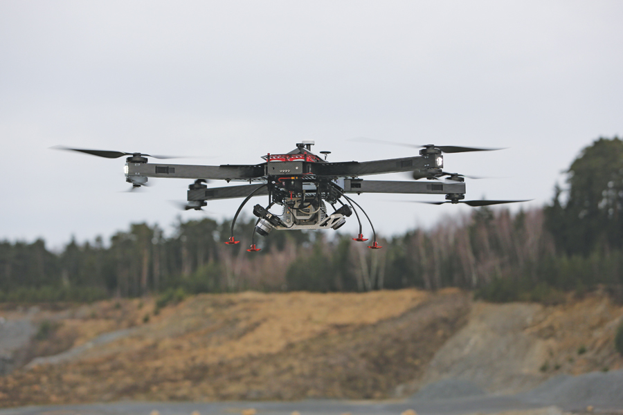 UAS-based surveying of quarries and open pits using the RiCOPTER.