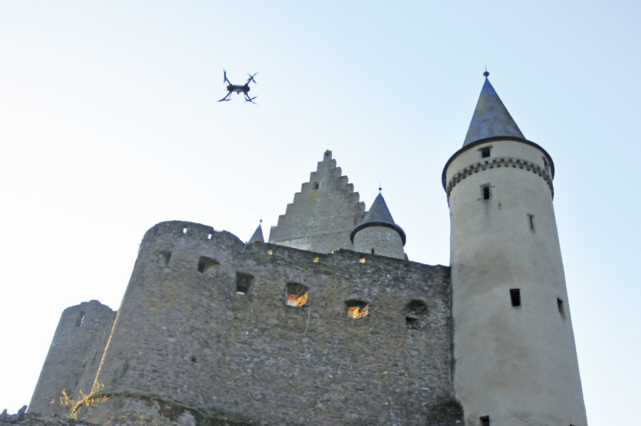 3D laser scanning documentation of Vianden Castle by ArcTron 3D in which the RiCOPTER demonstrated its ability to conduct very complex 3D inventories in a short amount of time.