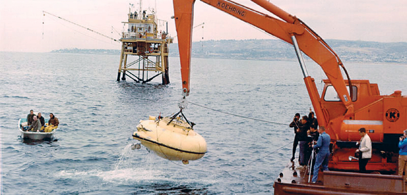 "The adventures of Jacques Cousteau, his research vessel the Calypso, and his soucoupe plongeante (diving saucer, aka ""Denise"") that he co-designed in 1959 captured the imaginations of generations."