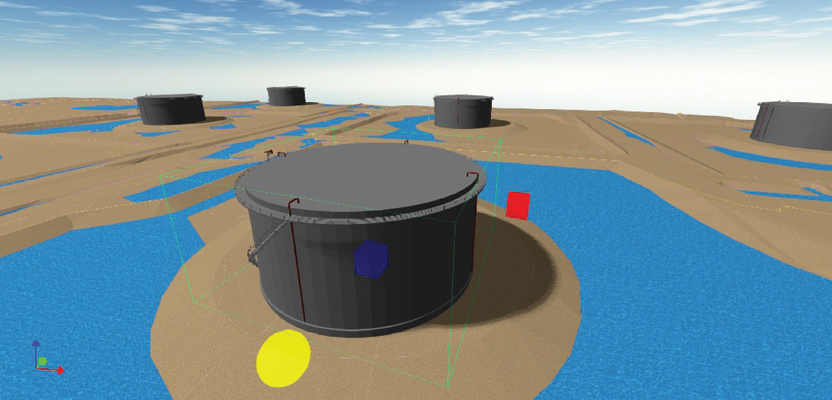 Proposed 3D design software will enable users to create and work with such images as this oil sands facility drainage analysis
