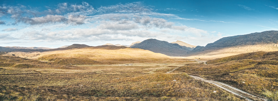 The Highlands are uniquely remote and sparsely populated but also diverse. In this image, wide-open spaces and the right equipment enable trouble-free GNSS surveying.