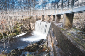 This weir was built originally to collect water for the public supply in the village of Corpach.