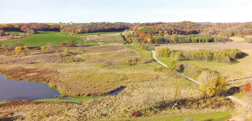 This image was taken by a UAS for vegetation inventory in wetlands in Wisconsin. Credit: Continental Mapping.