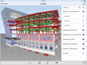 This model was created using Autodesk BIM 360 Glue, a cloud-based BIM management and collaboration product that helps users review projects and resolve coordination issues. Image courtesy of Autodesk.