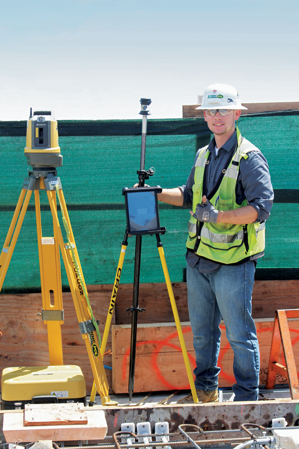 Embed installation was headed by Thane Werner, Nordic PCL's field engineer.