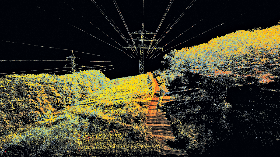 Powerline mapping is one of many lidar applications.