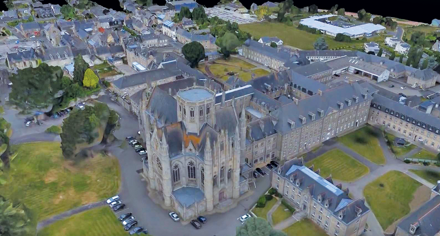 The Begard, France project was flown for a government organization in France called Cideral France. Deliverable products included 3 cm GSD, point cloud, 3D mesh DSM, and ortho.