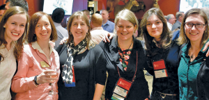Becca Rogers  (assistant executive director of the Minnesota Society of Professional Surveyors), Cynthia Hidde (secretary of the board of MSPS), Connie Villari (immediate past-president of MSPS), Paula Dijkstra, Thalia Nikolaidou, and the author.