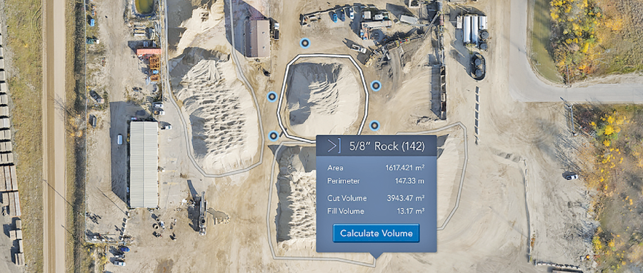 Recent stockpile features include being able to measure volumes of odd-shaped aggregate piles against walls and automatically calculating weight from aggregate material density.