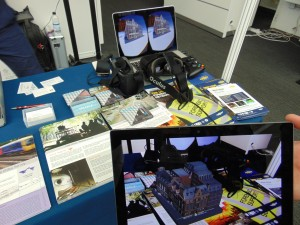 "Severn Partnership's  ""Seeable"" visualisation tools were demonstrated on a VR Occulus Rift headeset"