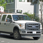 A mobile mapping rig of the engineering consulting firm Tetra Tech; the crew mapped the entire 288 miles of roadways in the city of Redmond, Washington in six days of driving.