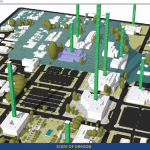 When a group of a state agency leadership saw this 3D visual of a 100-year flood plain consuming state-owned office buildings, they began to collaboratively discuss the issues it raised.