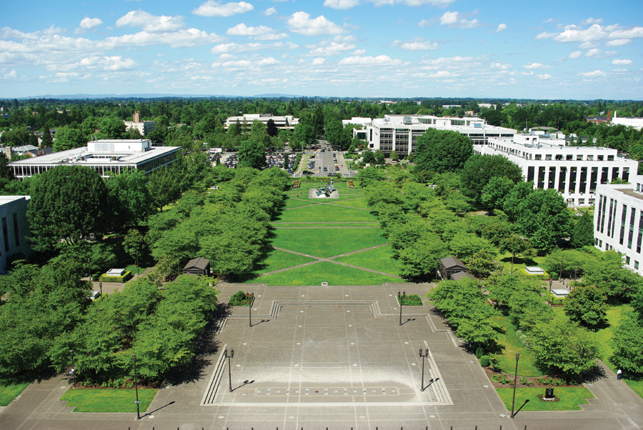 The Capitol Mall in Salem. Credit: M.O. Stevens.