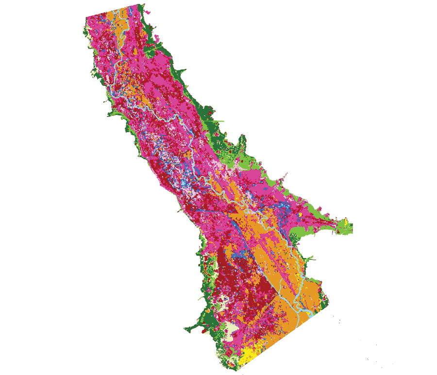 A vegetation map from 2011; Spencer is using eCognition to help classify the 2015 field study data and create an updated map.