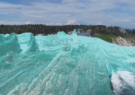 This digital elevation model was created by aerial imagery using Autodesk ReCap 360.