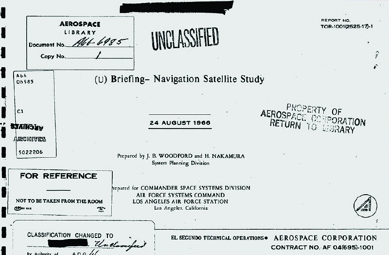 The 1964 Woodford- Nakamura report from Aerospace informed the design of what was to become the GPS system.