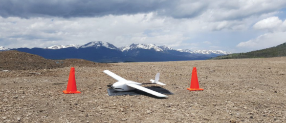 The CR Mapper fixed-wing UAS after one of the landfill flights.