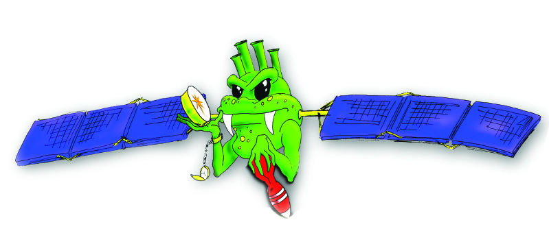 "The nickname for personnel of the GPS Directorate is ""Green Monsters."" This graphic of the mascot was developed by Darryl Fukui, a contractor with Tecolote research Inc., who is an acquisition specialist with the GP Director's Action Group."
