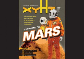 xyHt e-edition digital magazine cover February 2017: SURVEYING ON MARS