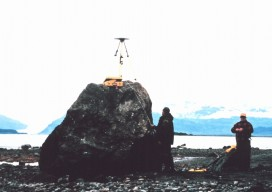 GPS Unit on a rock, Ice Bay, Alaska
