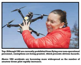 UAS accidents are becoming more widespread as the number of amateur drone pilots rapidly increases.