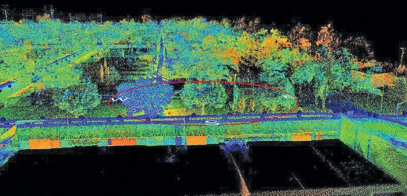 One view of data post-processed through Topcon Mobile Master Office software.