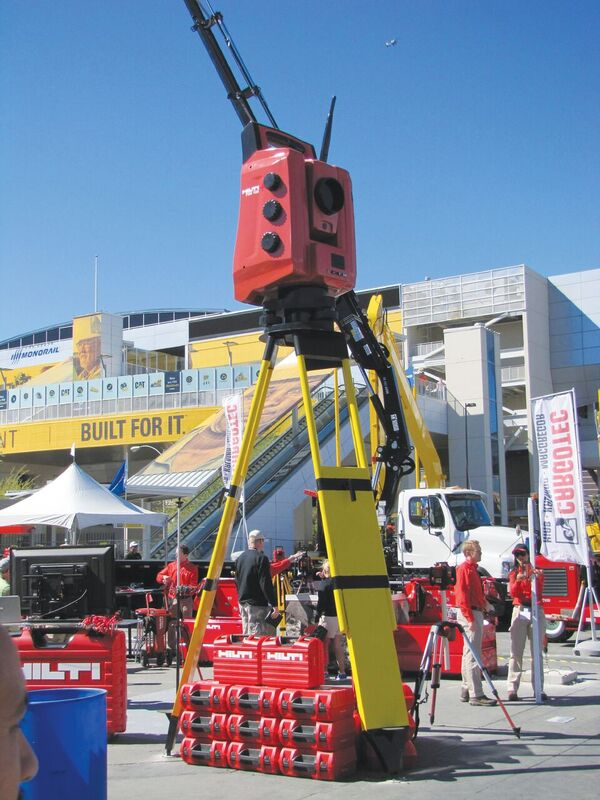 The Hilti display at CONEXPOCON/AGG 2014