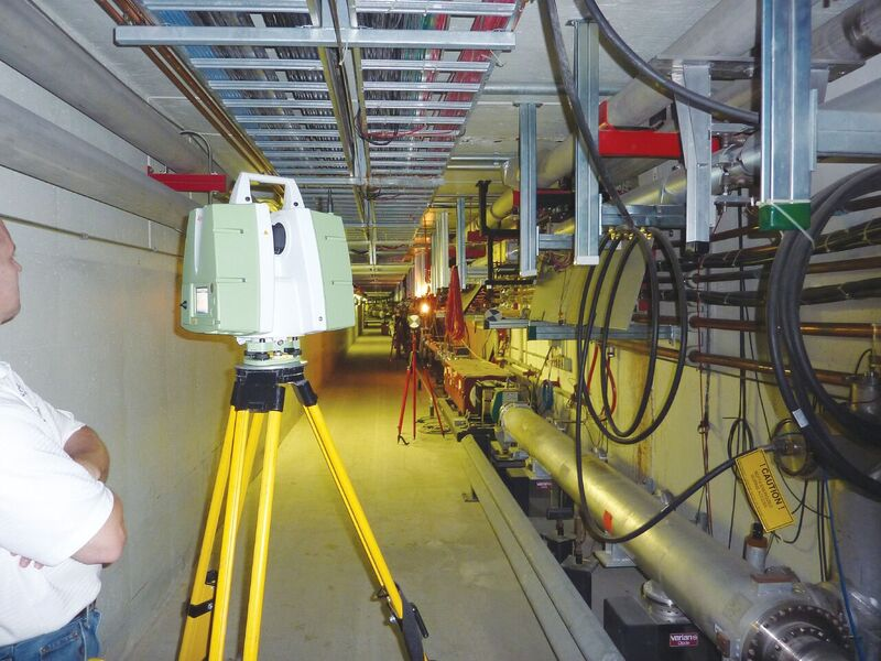 The survey enabled Fermilab staff to route in new equipment in a very tight space.