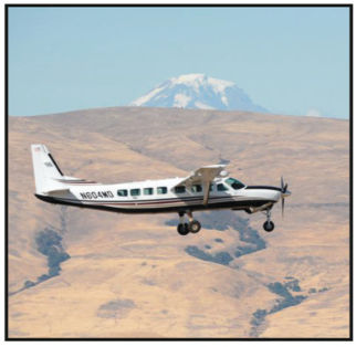 A Cessna Grand Caravan performs a survey near Hood River, OR.